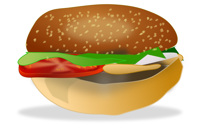 burger by netalloy - food clipart by NetAlloy