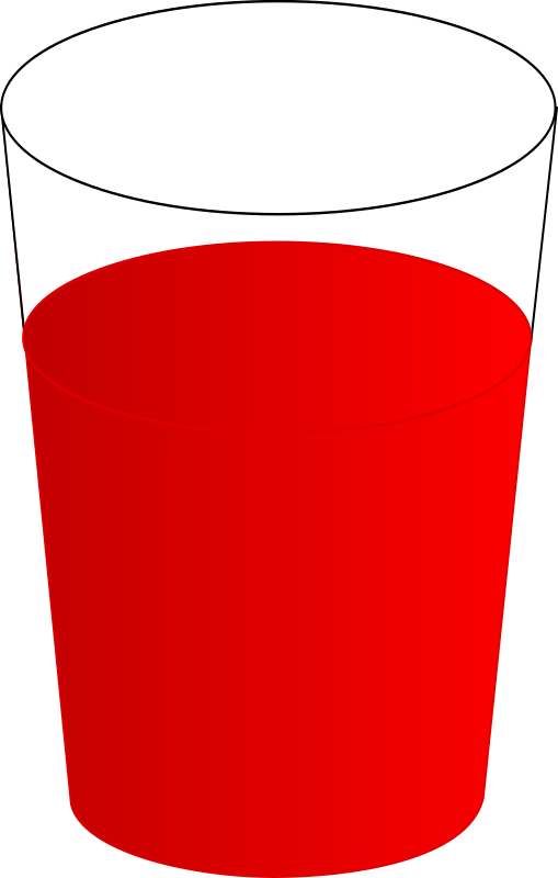 Clipart - drinking glass with red punch 01