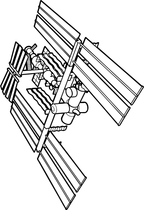 international Space Station by johnny_automatic - A NASA drawing of the International Space Station from 147266main_3.2.1.Liftoff_Activity11.pdf