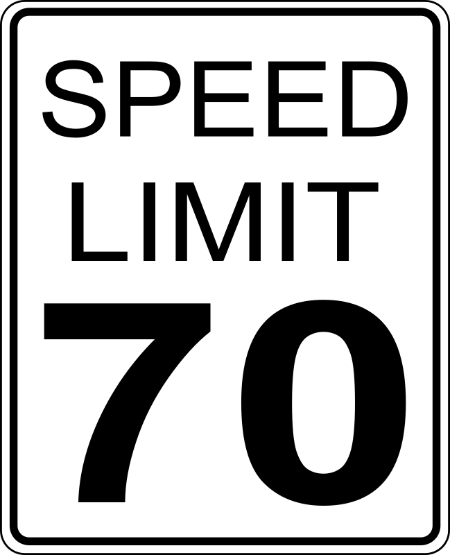 CA speed limit 70 roadsign by paulprogrammer -