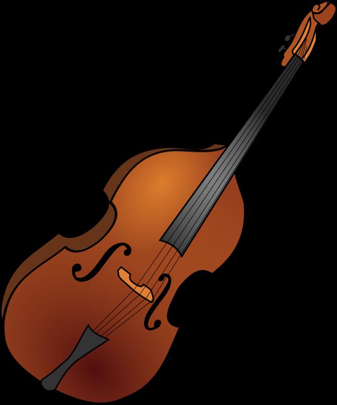 Clipart double bass 1