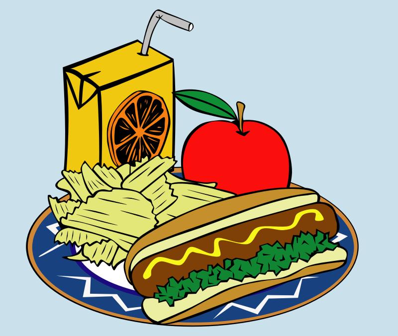 clipart fast food menu sample usage rh openclipart org hot dog lunch clipart hot dog lunch clipart
