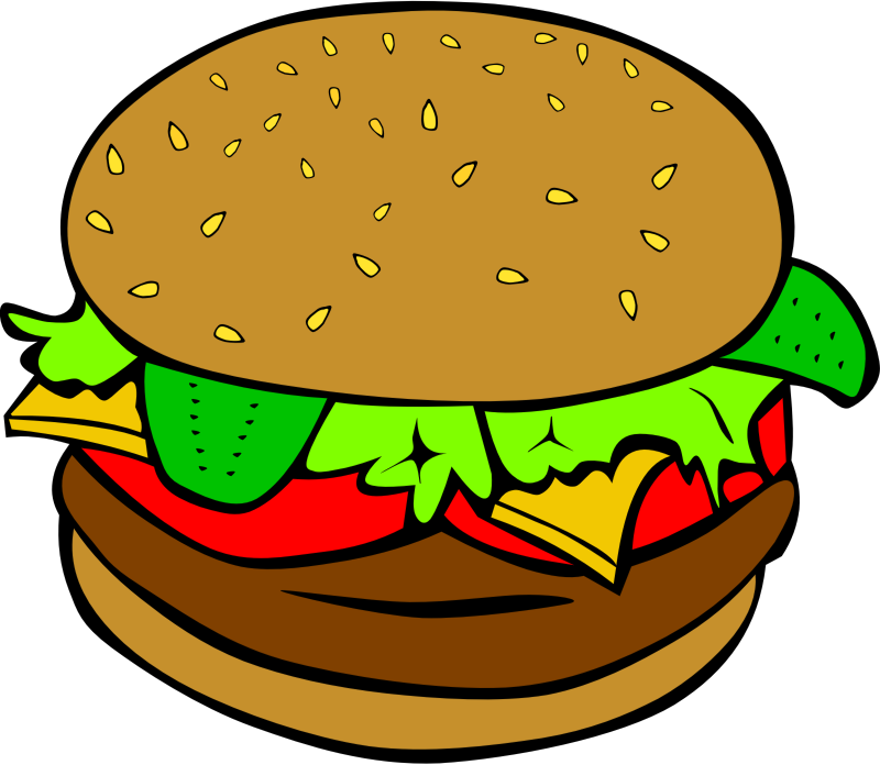 "Fast Food, Lunch-Dinner, Hamburger by Gerald_G - This Clip Art is part of a fast food menu set. Search for ""fastfood"" to find all."
