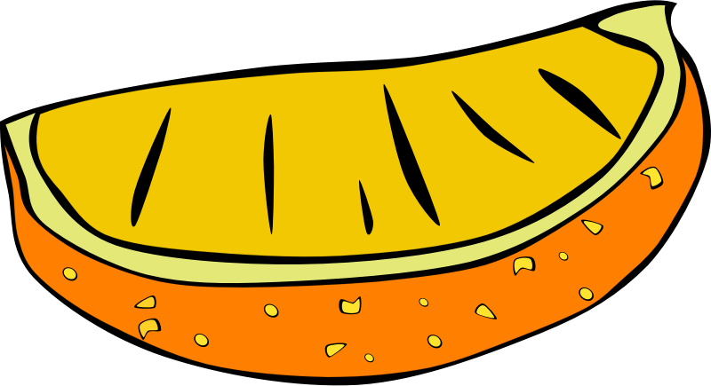 "Fast Food, Snack, Orange Slice by Gerald_G - This Clip Art is part of a fast food menu set. Search for ""fastfood"" to find all."