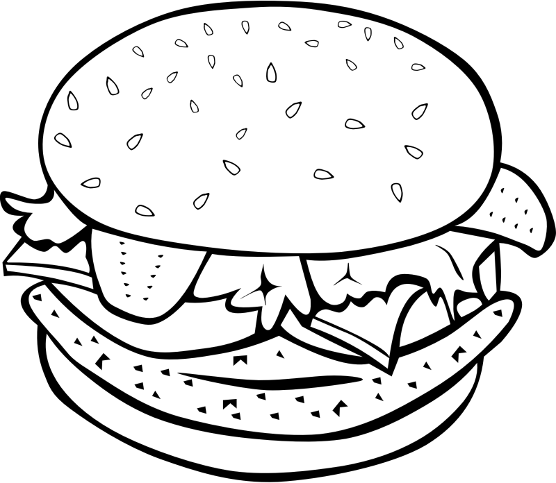 "Fast Food, Lunch-Dinner, Chicken Burger by Gerald_G - This Clip Art is part of a fast food menu set. Search for ""fastfood"" to find all."