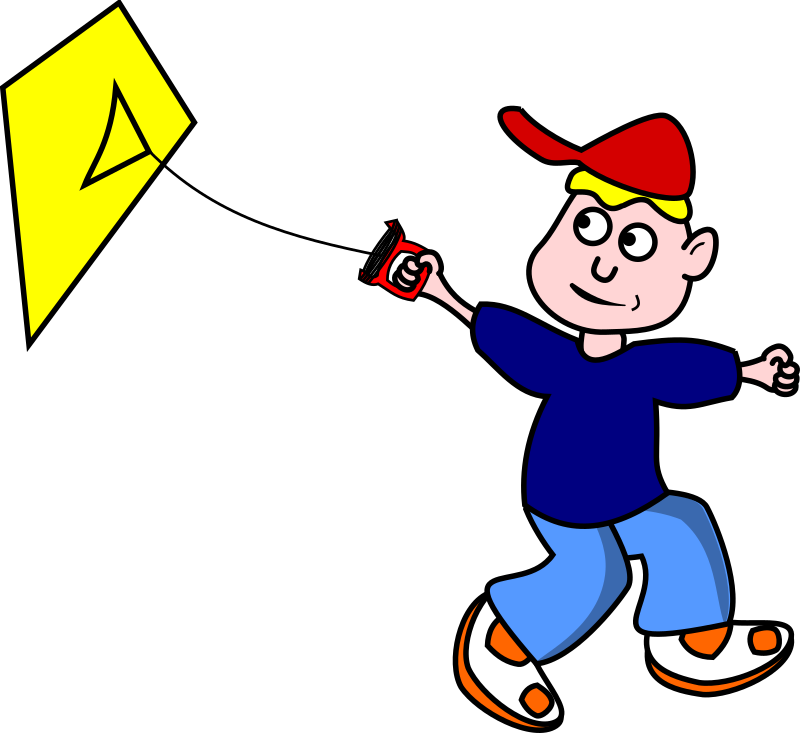 LetsFlyAKite by TomBrough - Cartoon Boy flying a kite