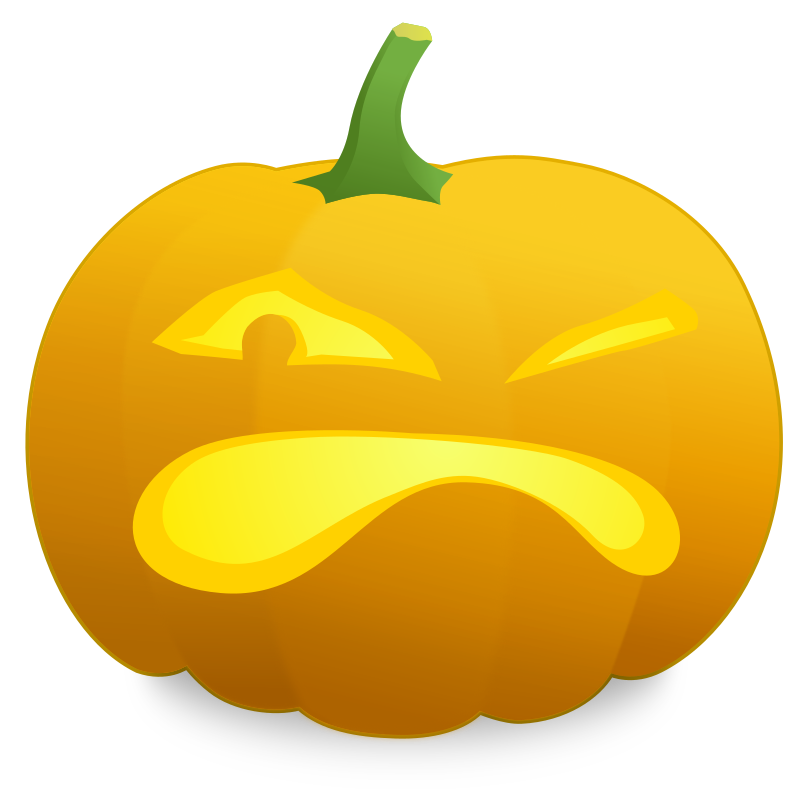 Jack O' Lantern: Randy by Simanek - An angry jack o'lantern named Randy.