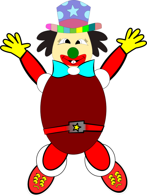 palhaço1 by stenio - A jumping, happy colorful clown.