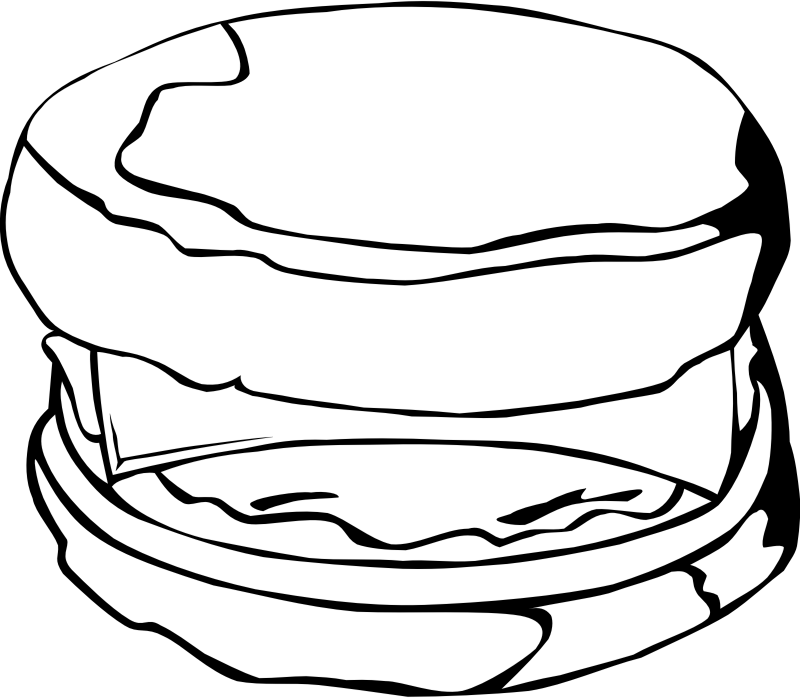"Fast Food, Breakfast, Egg Muffin by Gerald_G - This Clip Art is part of a fast food menu set. Search for ""fastfood"" to find all."