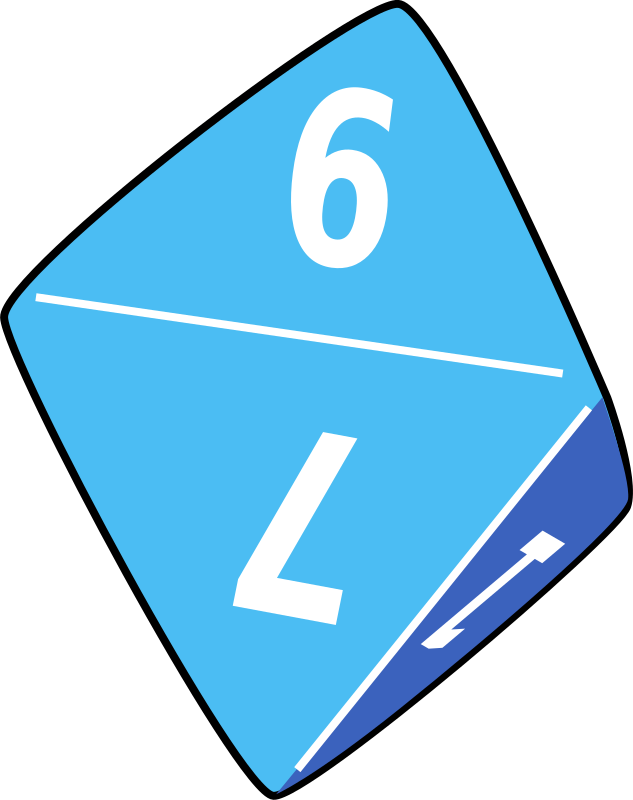 dice by yves_guillou - A multisided blue dice for dongeon and dragons.