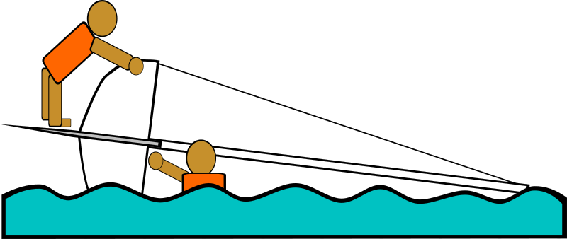 Sailing Capsized Rescue Illustrations by Gerald_G - Created for a workbook to teach sailing to teens, these images illustrate the capsizing and rescue of a small sail boat.