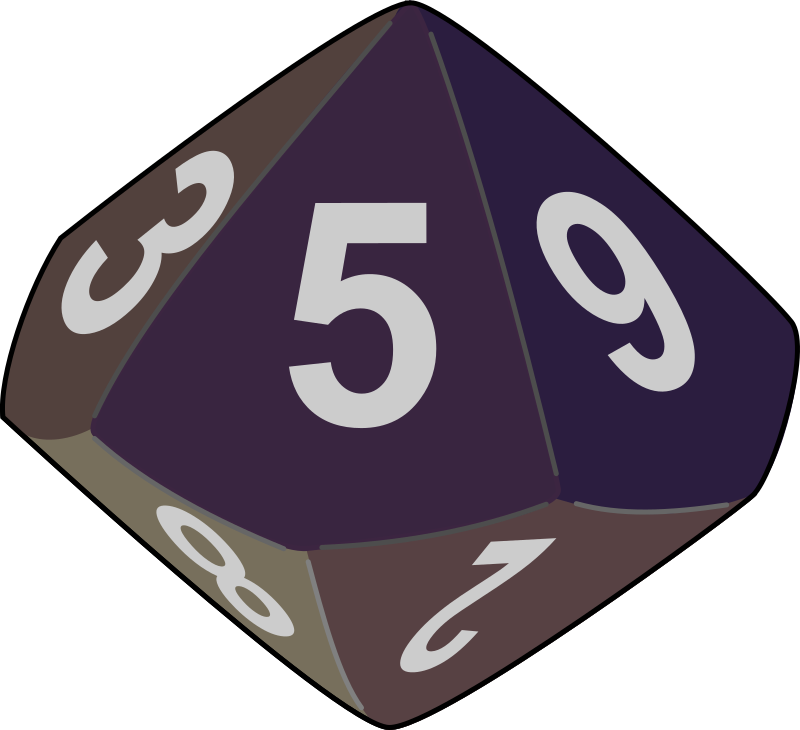 dice by yves_guillou - A multisided dice for dongeon and dragons.