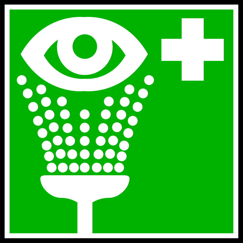 security by yves_guillou - A green information sign with for an eye wash.