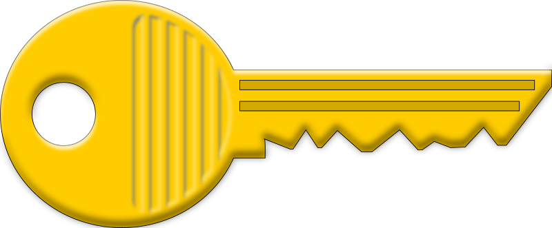 Key by koliberek - golden key with a little of 3D