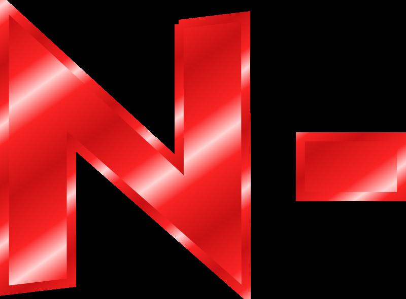 Clipart N Hyphen Red