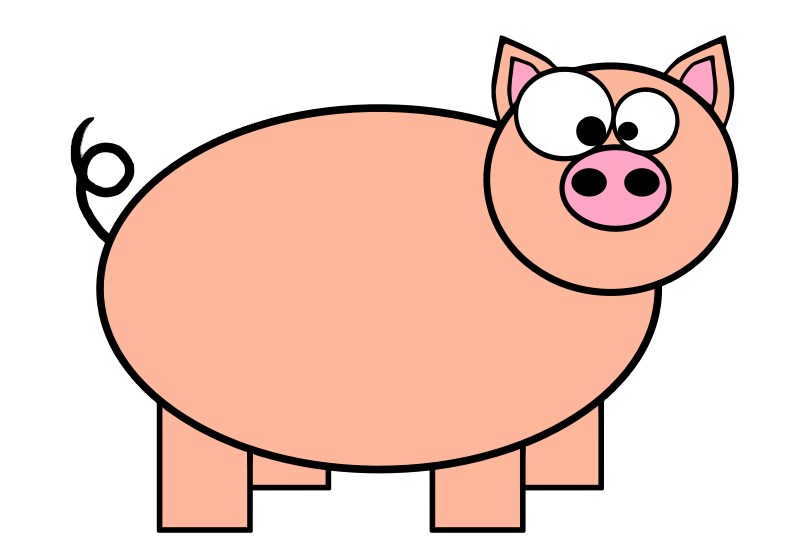 Piggie by CandyAdams - Orange Pig with big eyes. This pig was picked as a mascot in 2010 for Band Cochon, (www.BandCochon.Re), a group based in Réunion, Reunion.  https://www.facebook.com/band.cochon  Also see icons of the mascot:  http://www.rw-designer.com/icon-set/bandcochon