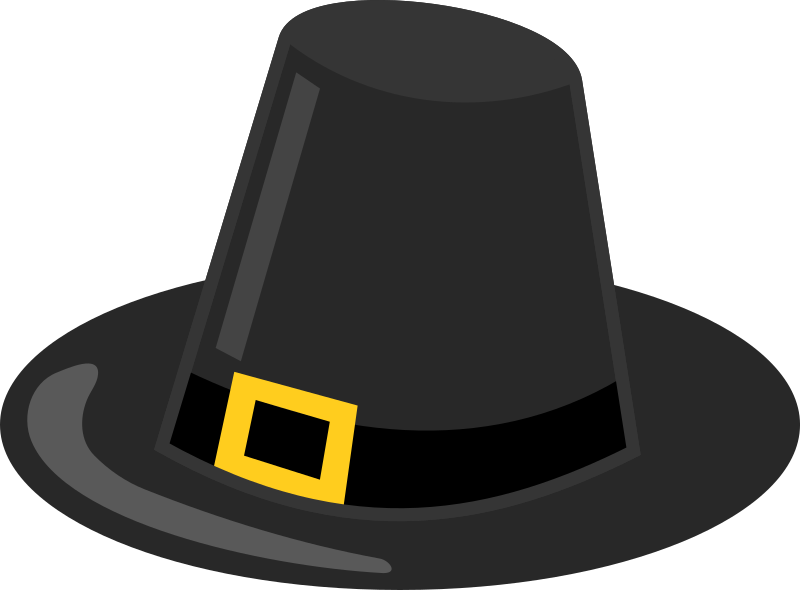 "Pilgrim Hat with Black Band by eady - When I was a kid the bands on these ""pilgrim hats"" were usually black.  So here's a version like that."