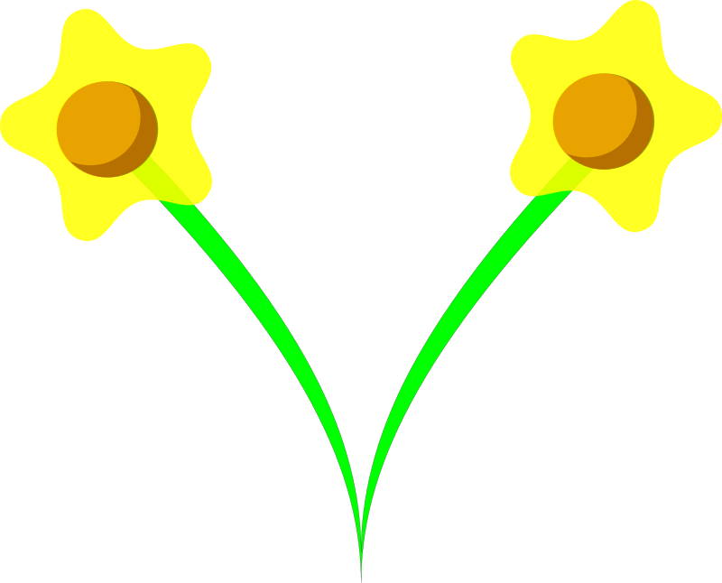 daffodil by tom - A clump of daffodils, based of a design of paper flowers.