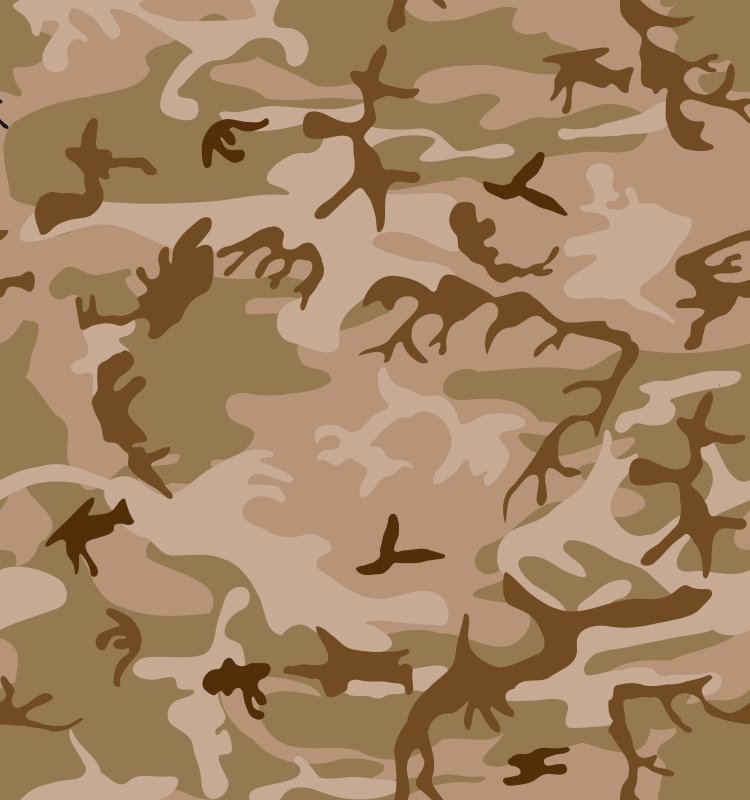 Desert Camo Print by eady - Here's a camo print with more tan and less green, such as might be used in a desert scenario.  This is tileable, so it can be used as a wallpaper or background.