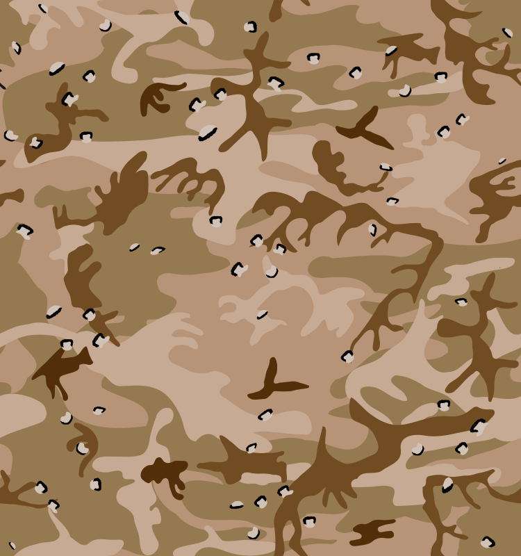 Desert Camo Gulf War Style by eady - This version of the desert-print camo adds the small dark-and-light flecks, like the US forces used in the Gulf War.