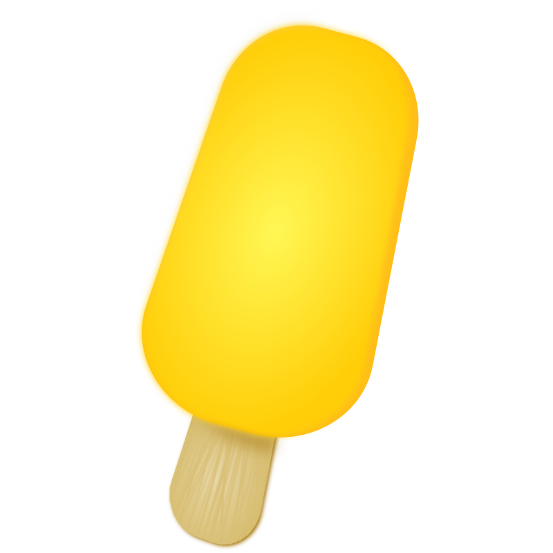Ice Popsicle by marricklip14 - A yellow popsicle, made with Inkscape.