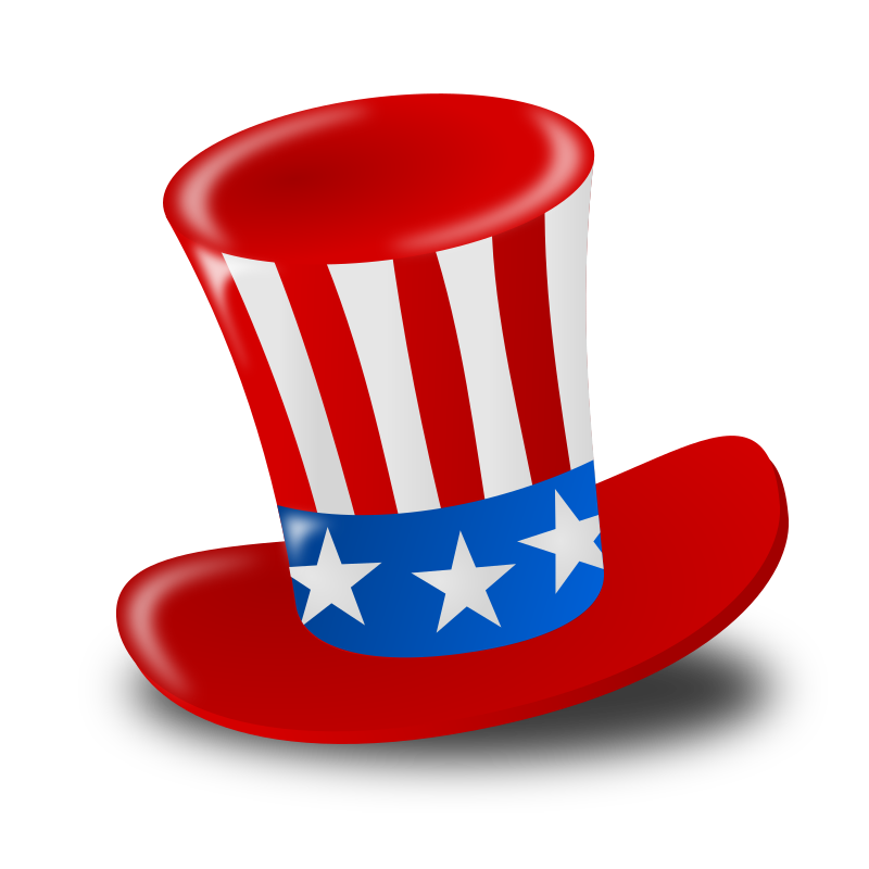 """Independence Day (USA) Icon by nicubunu - Independence Day - hat  Part of the """"Events"""" set made for WorldLabel.com"""