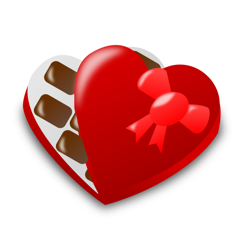 "Valentine Day Icon by nicubunu - Valentine Day - chocolate box  Part of the ""Events"" set made for WorldLabel.com"