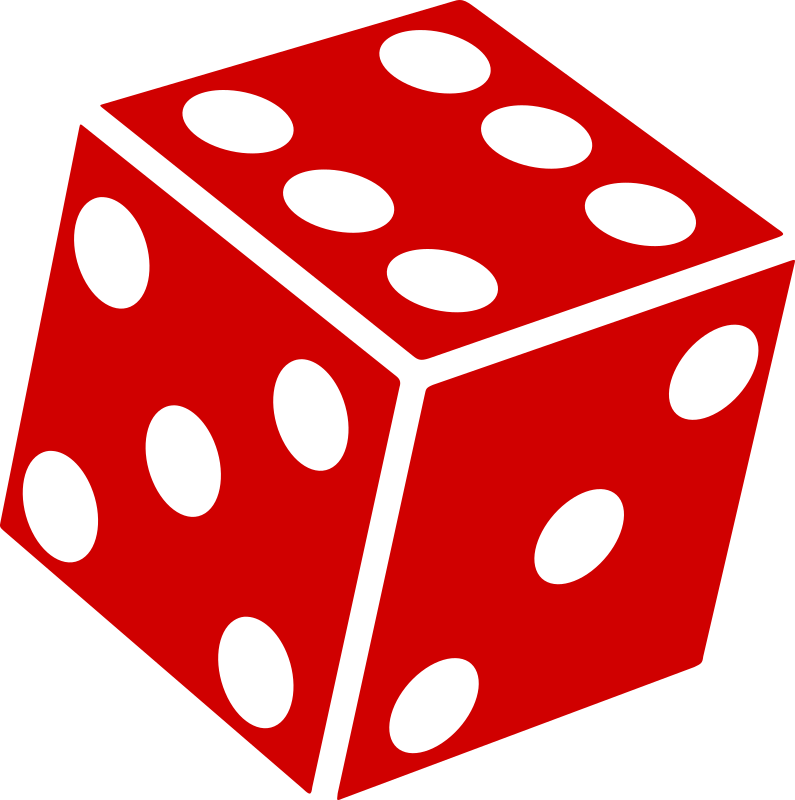 Six Sided Dice (d6) by wirelizard - A simple one-colour graphic of a basic six-sided die.