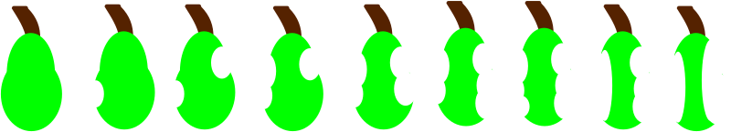 pairs by PeterBrough - pears being eaten