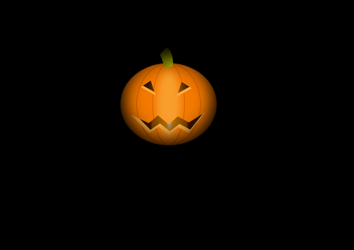Helloween pumpkin by helour - An halloween pumpkin on a black background.