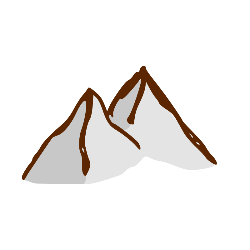 RPG map symbols: mountains by nicubunu - Part of the fantasy RPG map elements collection: mountains