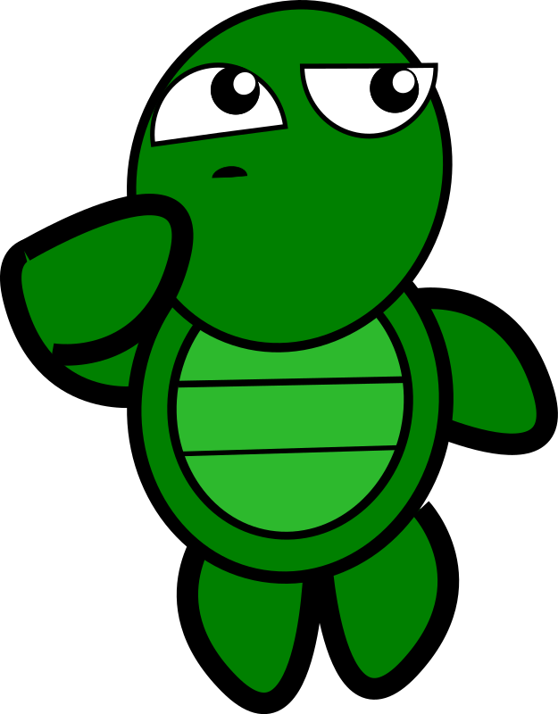 Turtle-Thinking by feraliminal - The turtle works up an idea.
