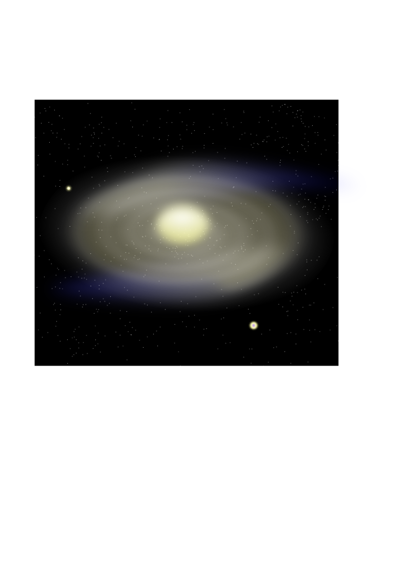 Spiral Galaxy m18 by kg - Spiral Galaxy m18 as I tried to draw it.