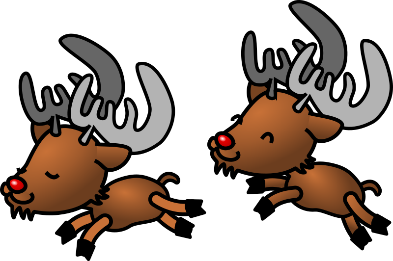 Caribou by shu - Caribou or raindeers jumping around.