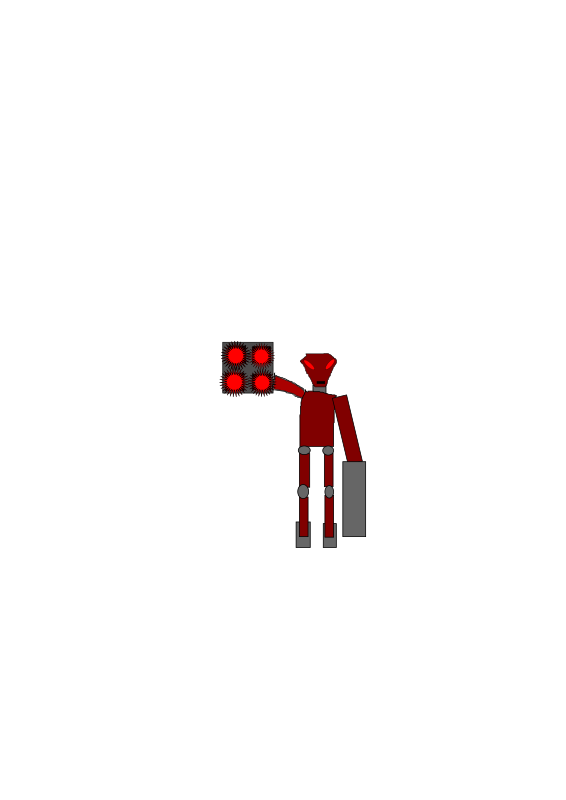 robot by Namso315 - This is a robot that I made up that can fly short distances due to rockets on his feet, fire laser blasts from cannons on his arms, and are often used as shock troops.