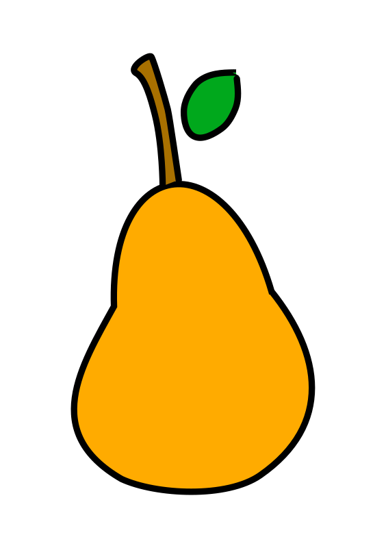 a less simple pear by bqk