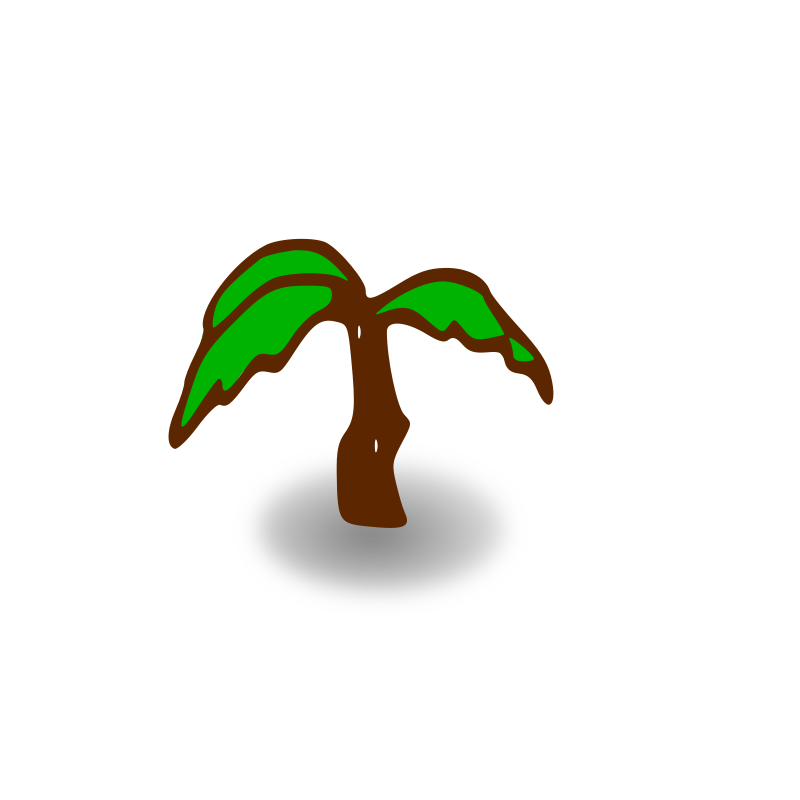 RPG map symbols: palm tree by nicubunu