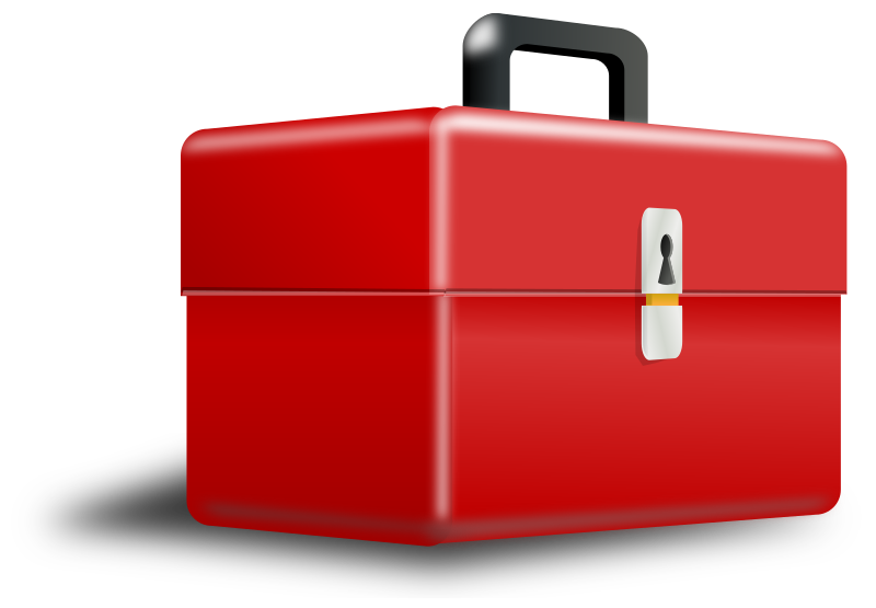 Clipart Metallic Red Box With Perspective
