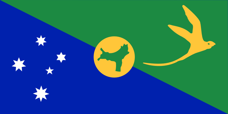 Antarctica Christmas Island flag by Anonymous