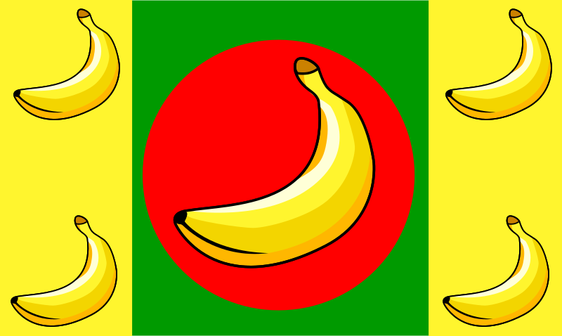 Banana Republic Flag by Anonymous - Banana Republic Flag.