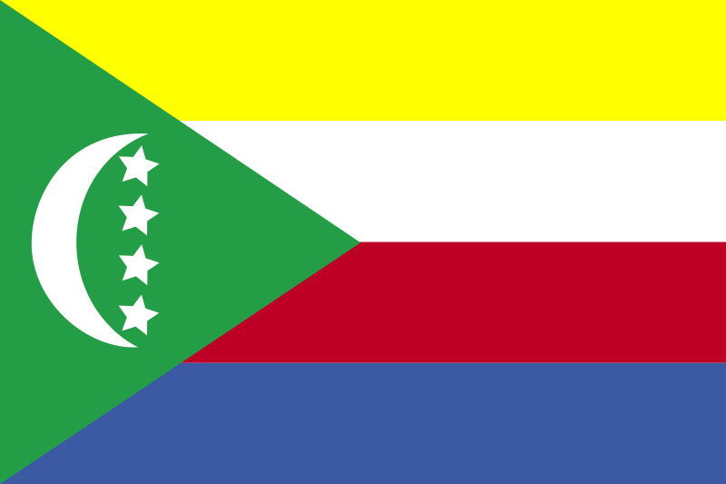 Flag of Comoros by Anonymous -