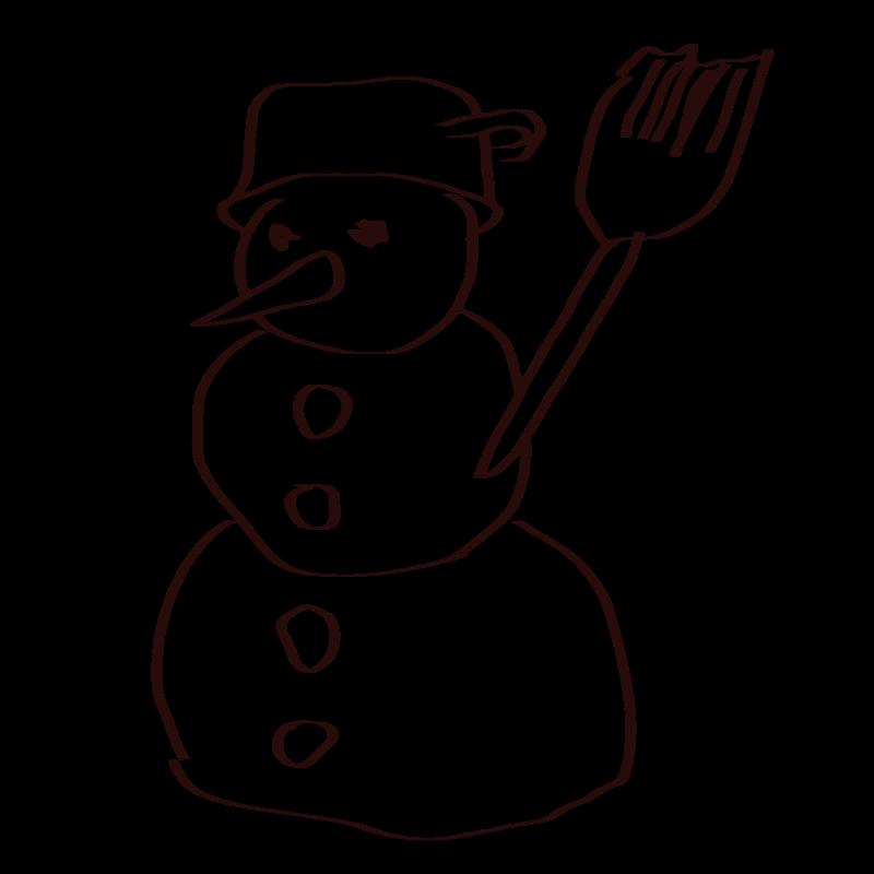 Clipart - Snowman sketch