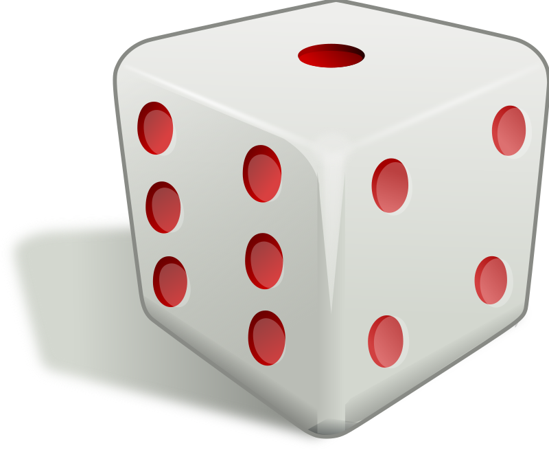 dice 3d by rg1024 - A white version of ernes's  red dice.