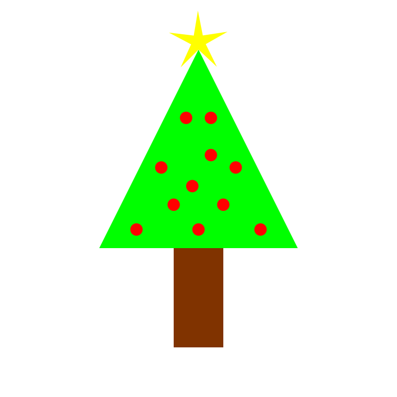 christmas tree by 10binary - This was my attempt at making a christmas tree.