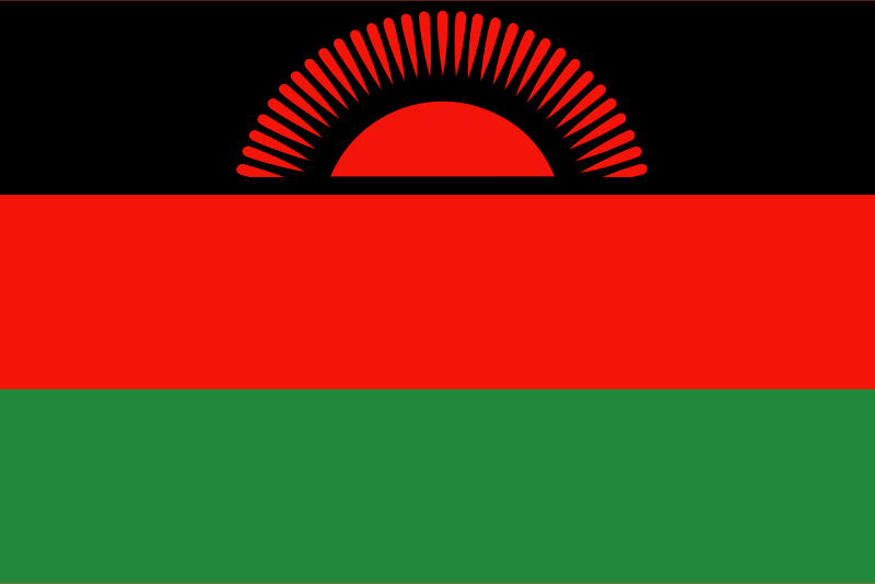 Flag of Malawi by Anonymous - Flag of Malawi.