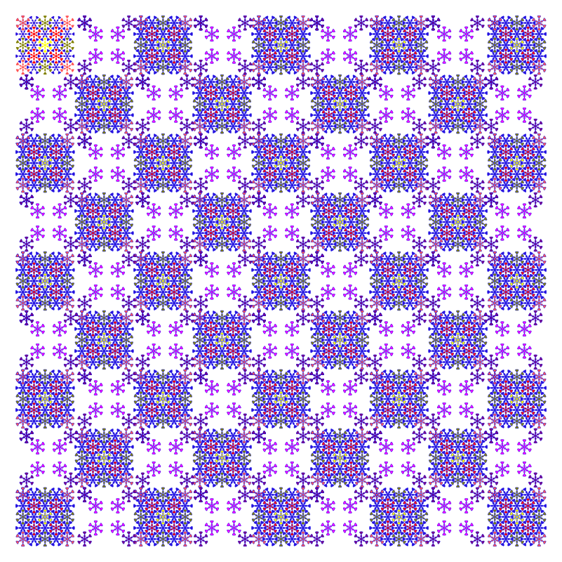 floral chess pattern by ovideva - A floral chess pattern designed using inkscape clone tilling feature