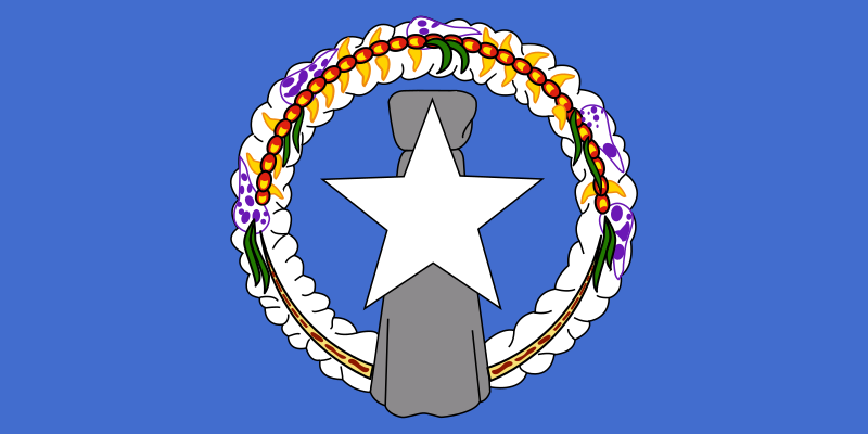 Flag of Northern Mariana Islands by Anonymous -