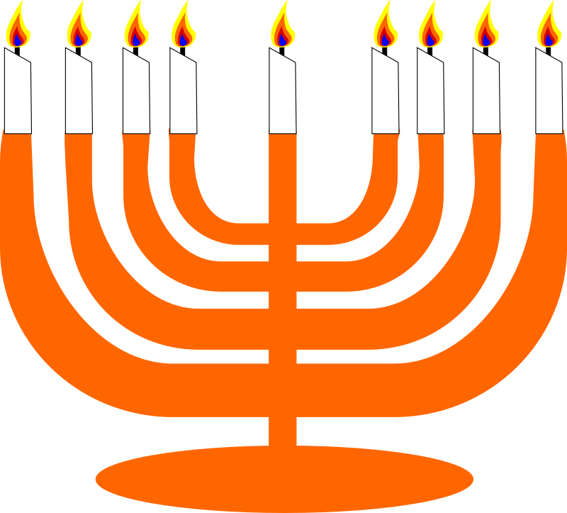 Simple Menorah For Hanukkah by semjaza