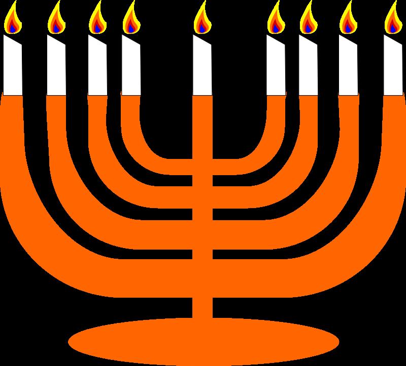 Clipart - Simple Menorah For Hanukkah