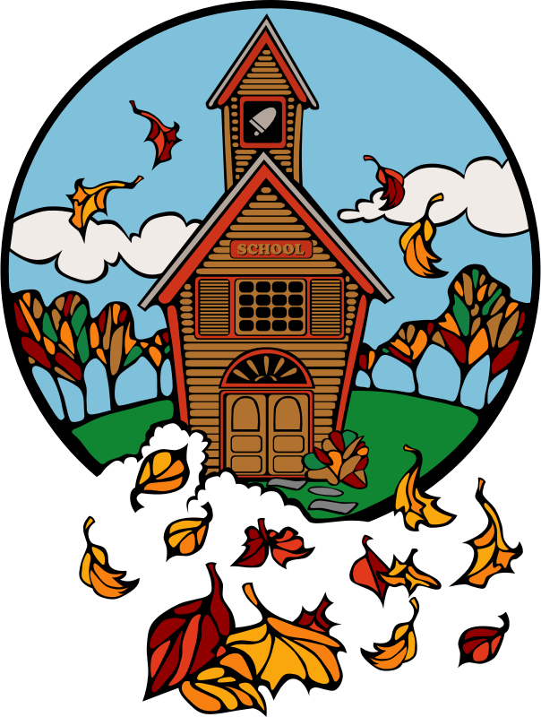 school in Fall by Anonymous - School in Fall.